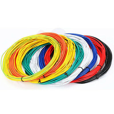 5-10M Flexible Stranded 1pin Wire Cable 26AWG 1007AWM Cord Hook-up DIY RF