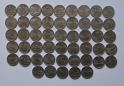 USA State Quarter dollar FULL Set 50 Coins US America