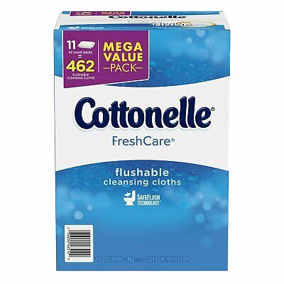 Kleenex Cottonelle FreshCare Flushable Cleansing Cloths (11 pk. 42 ct.)