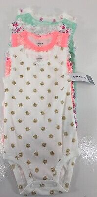 Carters Baby Girl 5 Piece Floral Tank Top Bodysuit Multicolor Sz 6 Month NWT #