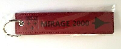 Mirage 2000 Ec 2/5 French Air Force Leather Remove Before Flight Luggage Tag