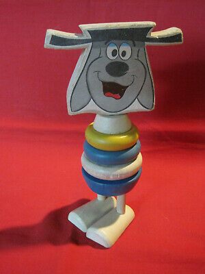 Vintage 1960s Terrytoons Deputy Dawg character stacking wooden toy