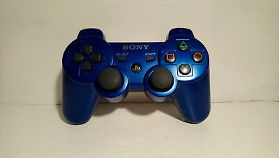 Official Blue Sony PlayStation 3 PS3 Dual Shock 3 Wireless Controller OEM