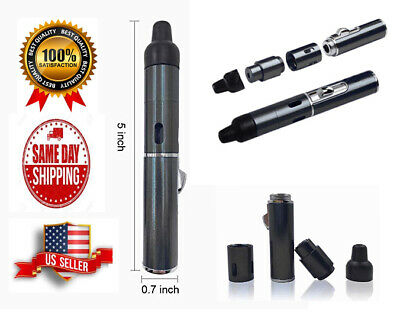 Portable Metal All in One Pipe with Lighter, Click-n Hit, Color Black