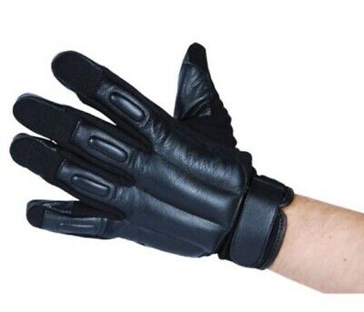 POLICE Tactical SAP Goat Leather Reinforced Glove STEEL SHOT Weighted Knuckle L