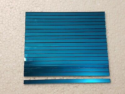 30 pieces,Turquois Glass Mirror Tiles, Approx 12 x 0.5 cm, 1.6 mm Thicknes