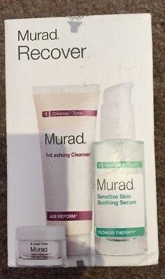 NEW - Murad Recover Refreshing Cleanser, Soothing Serum & Hydro Dynamic Ultimate