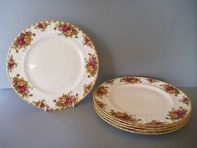 """Royal Albert - Old Country Roses - 5 Dinner Plates - 10.5"""" or 26.5cm - 1st's"""