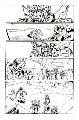 £5 OFF! TRANSFORMERS RG1 #91, p1 original art by WILDMAN & BASKERVILLE. HOTROD!