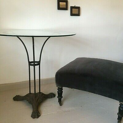 Cast Iron Art Deco French Lions Paw Cafe Table