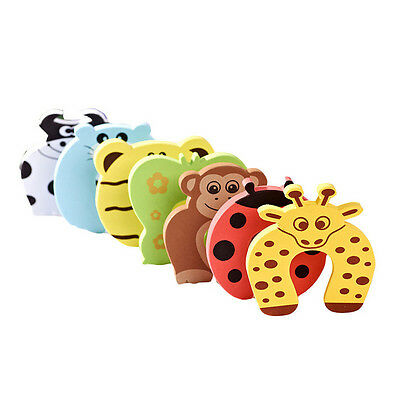 2/6X Baby Safety Foam Door Jammer Guard Finger Protector Stoppers Animal P0CNIC