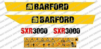 Barford Sxr3000 Stickers de Dumper