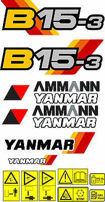 Yanmar B15-3 Digger Decal Set