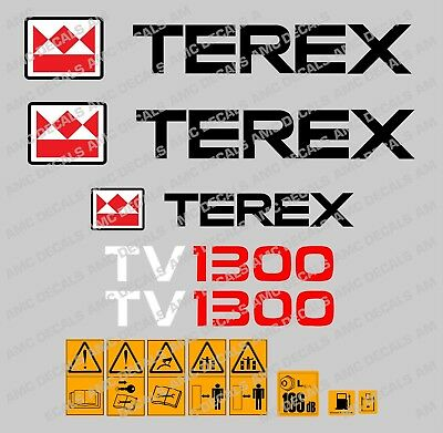 Terex Tv1300 Autocollants Stickers Galet