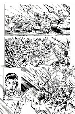 £5 OFF! TRANSFORMERS RG1 #100, p22 original art GUIDI & BASKERVILLE. THE FINALE!