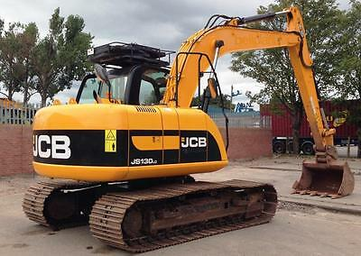 JCB JS130lc MINI DIGGER COMPLETE DECAL STICKER SET WITH SAFTY WARNING