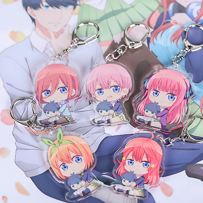 The Quintessential Quintuplets Cute Anime Figure Acrylic Keyring/Keychain UK