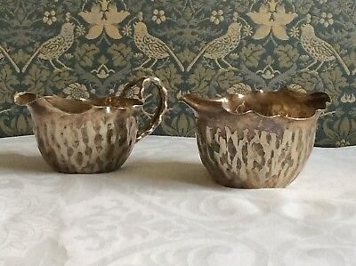 Silver Plate Hukin and Heath Cream Jug and Sugar bowl