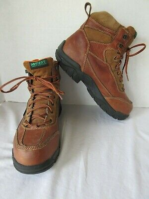 a06100ae111 HYTEST BROWN MET Guard Steel Toe Safety Boots size 8 B - $39.95 ...