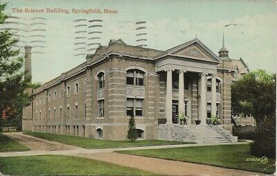 Massachusetts, Springfield, The Science Building, 1911 Postcard    M115