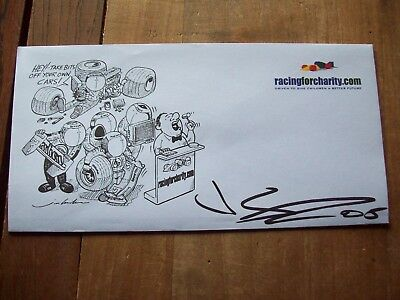A Racingforcharity Envelope Signed By Jamie Green