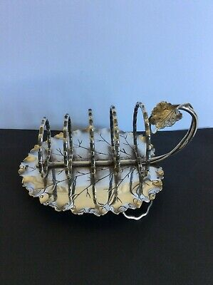 Silver plate Leaf Toast Rack, Hukin & Heath.