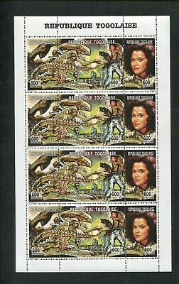 1994 Togo Postage Stamps #1625 Mint Never Hinged Full Sheet - Alien Movie