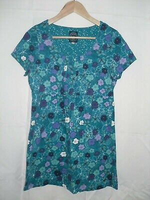 789bf127bb2 LADIES SEASALT ORGANIC Cotton Blue Floral Tunic Top Size 12 NEW ...
