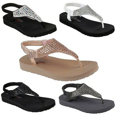 c13661e4ae44 WOMENS SKECHERS 31560 Cali Meditation Rock Crown Slingback Sandals Flip  Flops -  29.90
