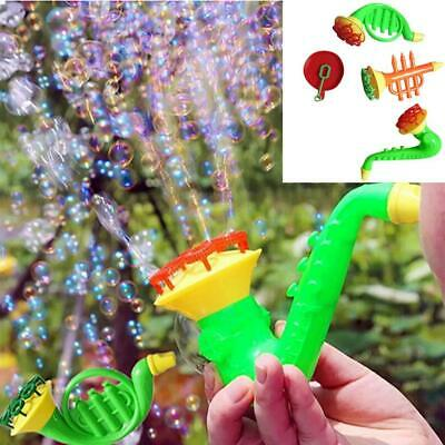 Children Water Blowing Toy Horn Shape Bubble Blowing Toy Kids Gifts DKVP