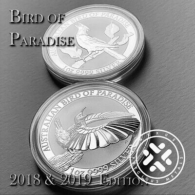NEW 2018 Riflebird & 2019 Manucodia Silver Bird of Paradise 1oz Coins Australia