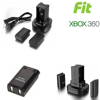 Xbox 360 Wireless Controller Rechargeable Battery Pack USB Charger Stand Cable