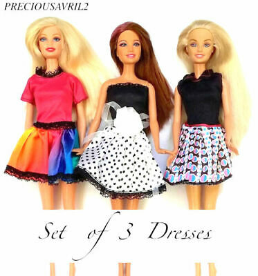 Brand new barbie doll clothes outfit clothing sets set of 3 outfits summer dress