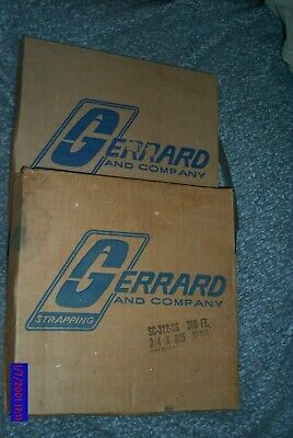 "2 Lots of GERRARD 3/4""x025 Stainless Steel Banding Strapping SC-312-ss 200ft ea."