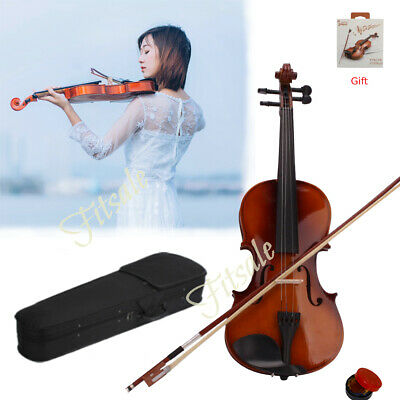 Black friday 4/4 Size Beginners Acoustic Violin Fiddle Set with Case Bow Rosin