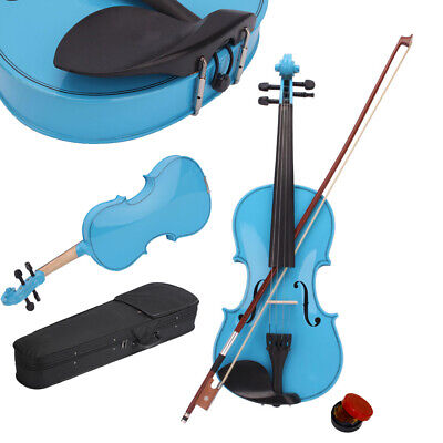 New 1/2 Acoustic Violin + Case + Bow + Rosin Natural for Kid Beginner Student
