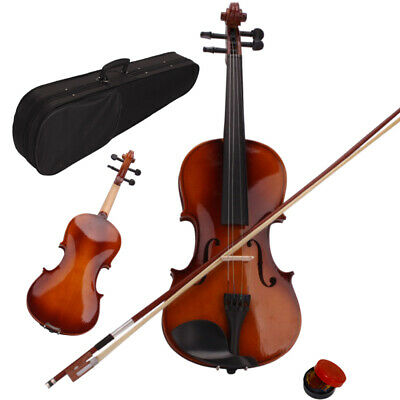 Kids Acoustic Violin 1/4 Size Natural Color with Case+ Bow + Rosin