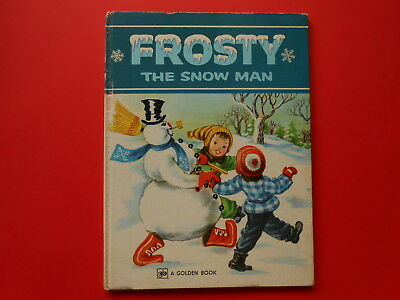## Frosty The Snow Man - A Golden Book - Large Vintage Hardcover