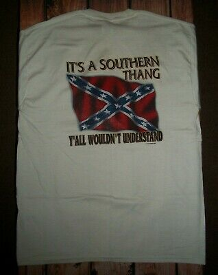 Jerzees White Southern Humor Tee Shirt Top Mens Size Large Nwot