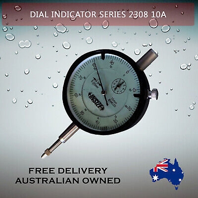 Metric Insize Dial Indicator, Series 2308-10A Genuine with Storage Case