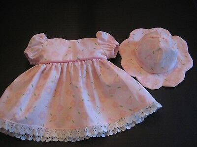 Cheery Pink Dress & Hat for Bitty Baby American Girl Doll