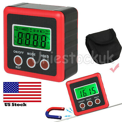 Magnetic LCD Digital Angle Gauge Inclinometer Finder Cube Protractor Level Box