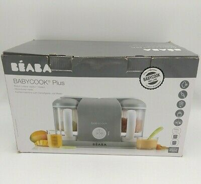 BEABA Babycook Plus 4 In 1 Steam Cooker And Blender, 9.4 Cups, Cloud
