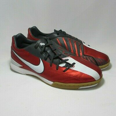 7a990f3cd Nike Mens Rare T90 Shoot IV IC 472558-610 Red White Indoor Soccer Shoes Size