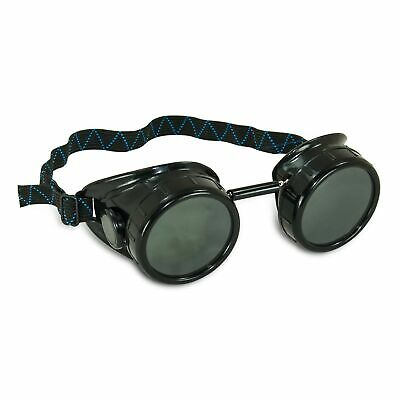 AES Industries #5 Shade Black Safety Welding Cup Goggles - 50mm Dual Lens Eye...
