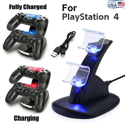 Dual Controller Charger Dock Station For PlayStation PS4 USB Fast Charging Stand