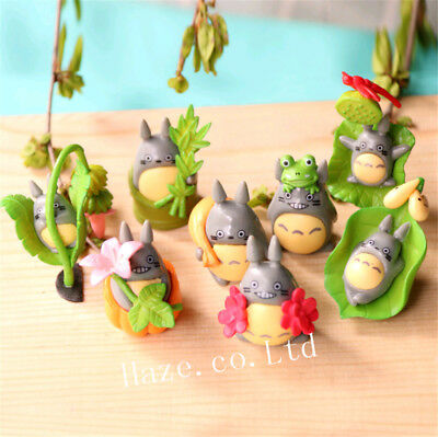 8pcs/Set My Neighbor Totoro PVC Mini Figure Figurine Home Garden Decor