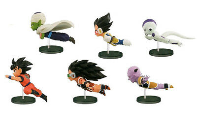 6pcs Anime Cartoon Dragon Ball 30th Fly Run Sun Goku PVC Figure Figurine Toys #