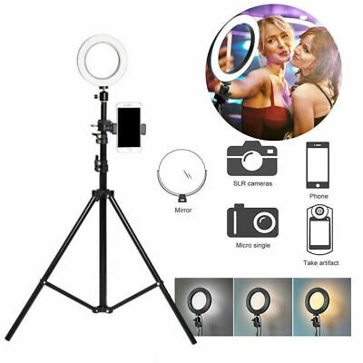 LED Ring Light Video Lamp Dimmable Kit with Tripod Phone Holder For Camera Shoot