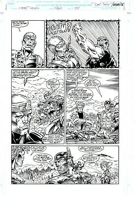 £5 OFF! GENE DOGS #4, p22- Original MARVEL published art by TAYLOR & BASKERVILLE